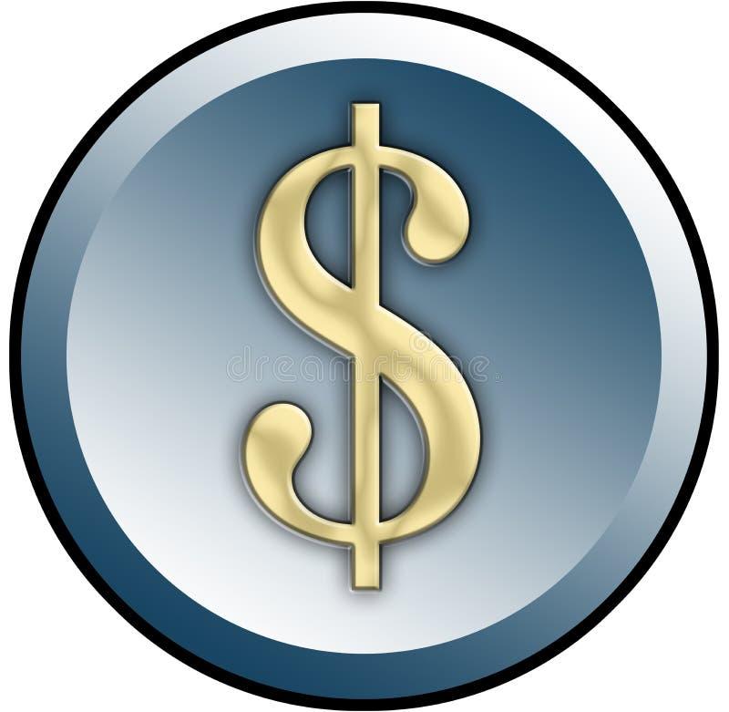 Bouton du dollar illustration libre de droits
