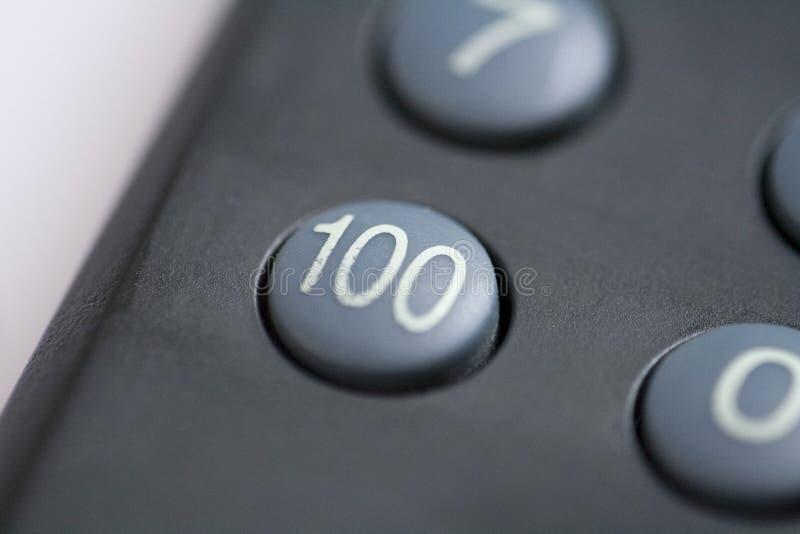 Bouton du numéro cent photo stock