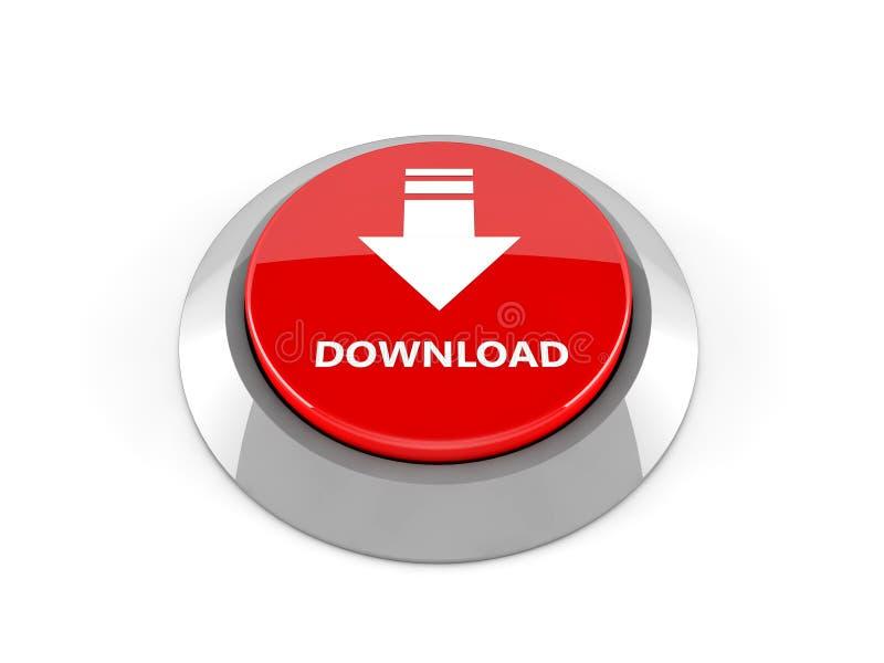 bouton du téléchargement 3d illustration stock
