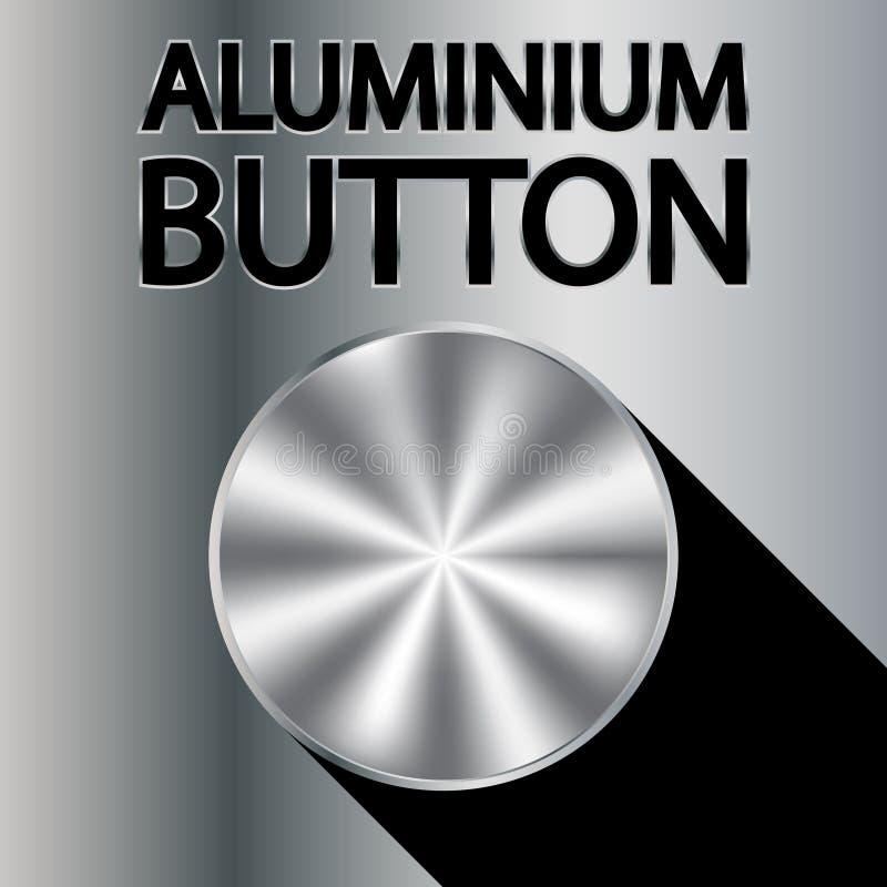 Bouton en aluminium illustration libre de droits
