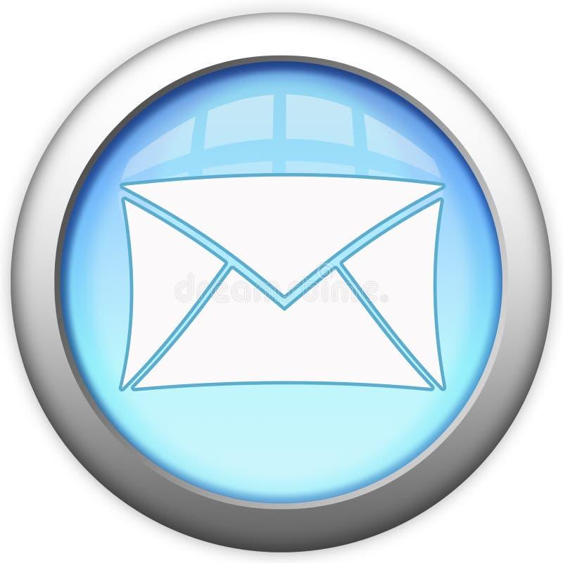 Bouton en verre bleu d'email illustration libre de droits
