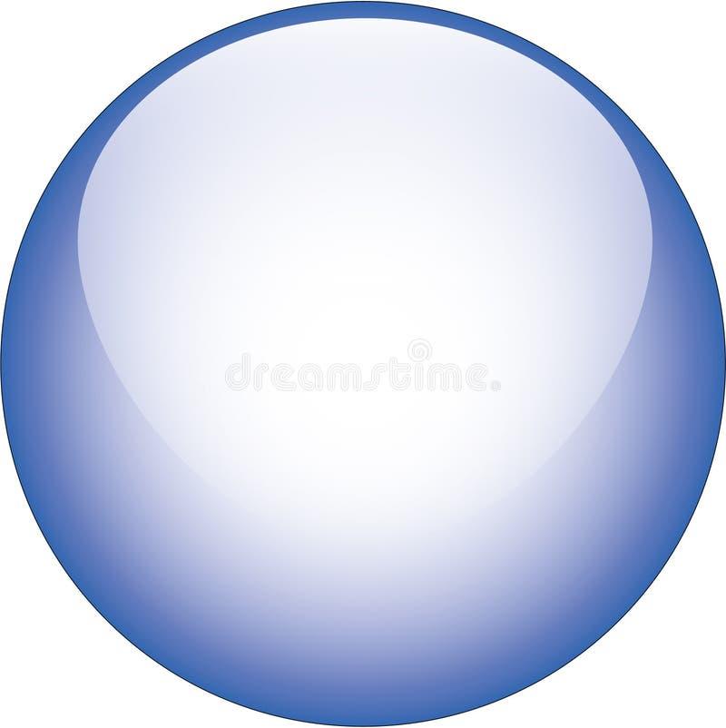 Bouton en verre bleu de vecteur illustration de vecteur