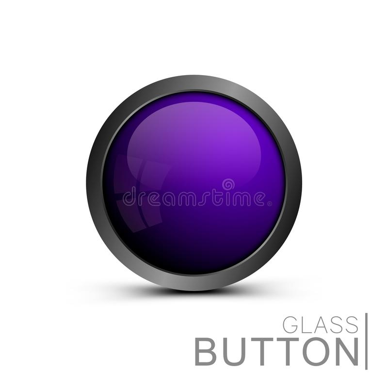 Bouton en verre moderne illustration libre de droits
