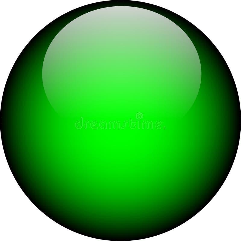 Bouton en verre vert de vecteur illustration de vecteur