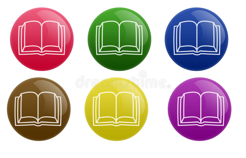 Bouton lustré de livre illustration de vecteur