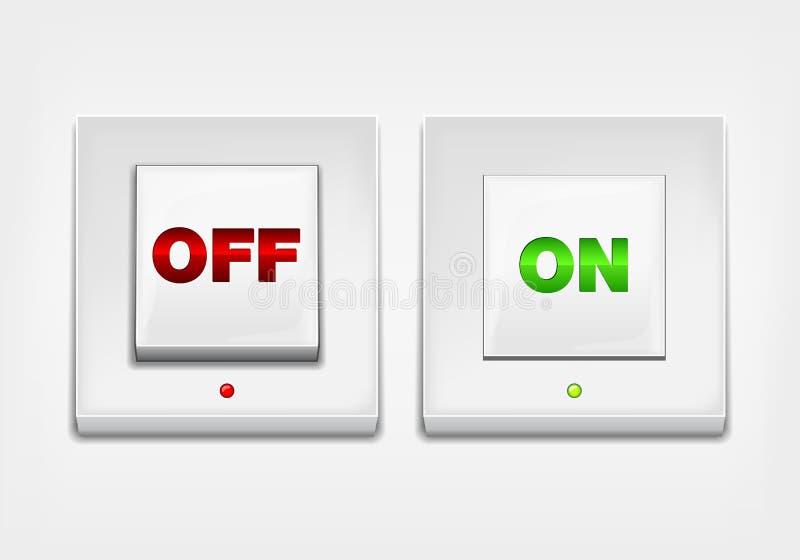 Bouton 'MARCHE/ARRÊT' rouge et vert illustration de vecteur