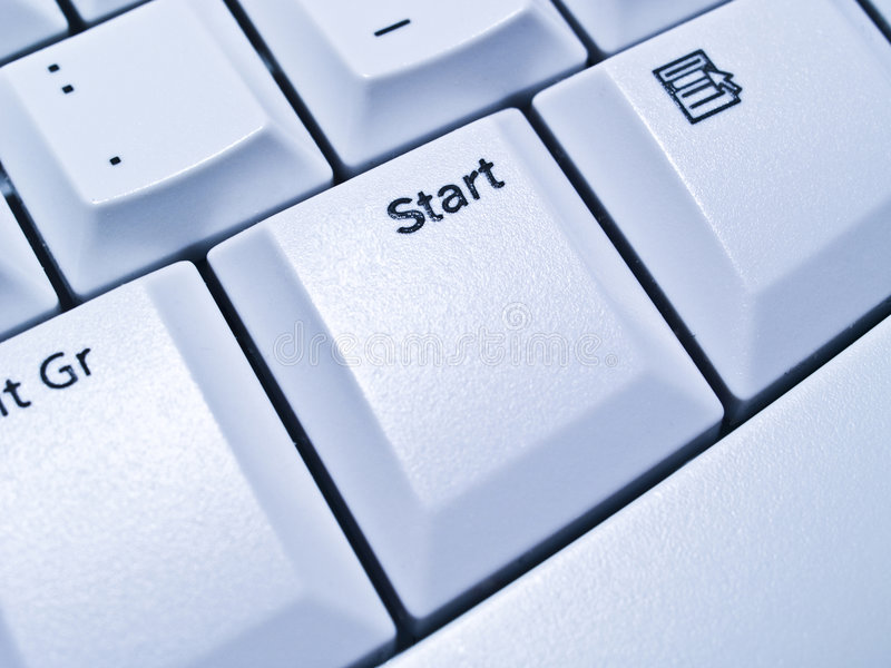 Bouton marche sur le clavier images libres de droits