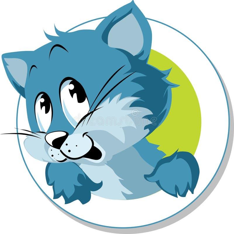Bouton mignon de dessin animé de chat illustration stock