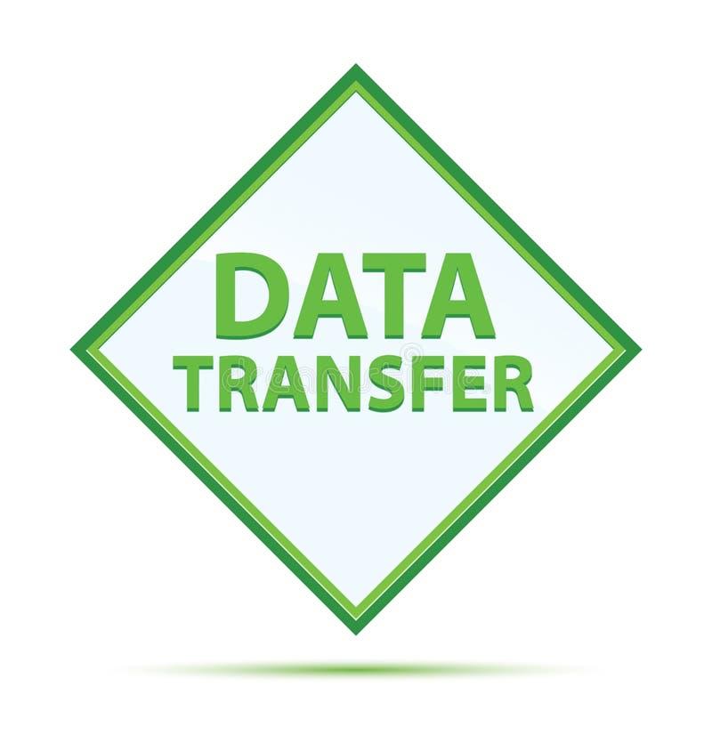 Bouton moderne de diamant de vert d'abrégé sur transfert des données illustration libre de droits
