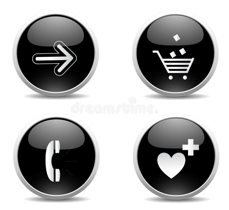 Bouton moderne de Web illustration stock