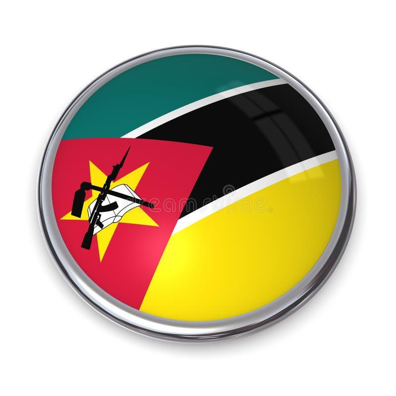 Bouton Mozambique De Drapeau Photographie stock libre de droits
