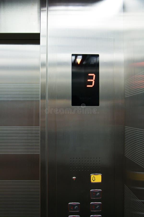 Bouton poussoir d'ascenseur photo libre de droits
