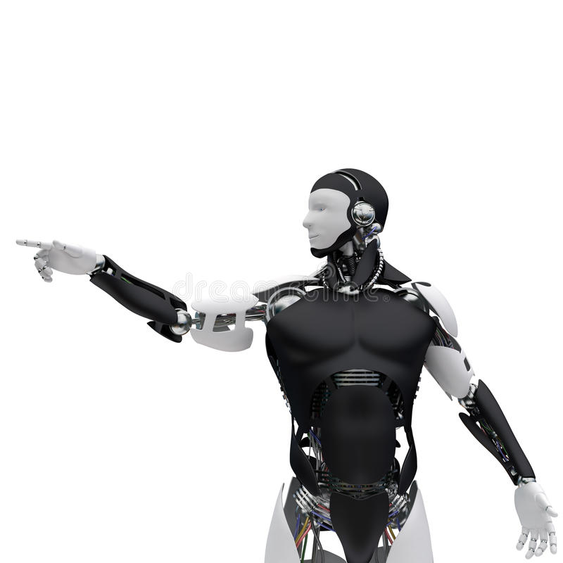Bouton poussoir de robot illustration libre de droits