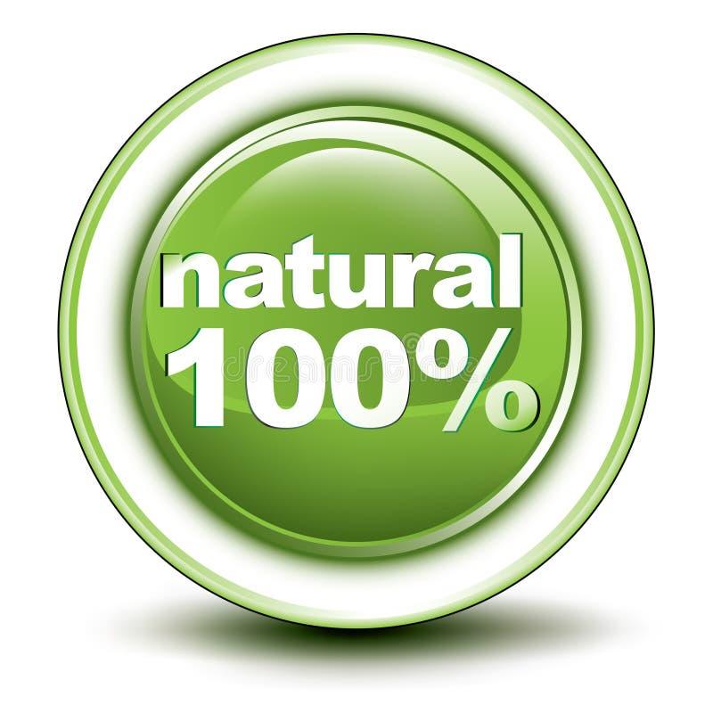 bouton poussoir environnemental de Web de 100% illustration de vecteur
