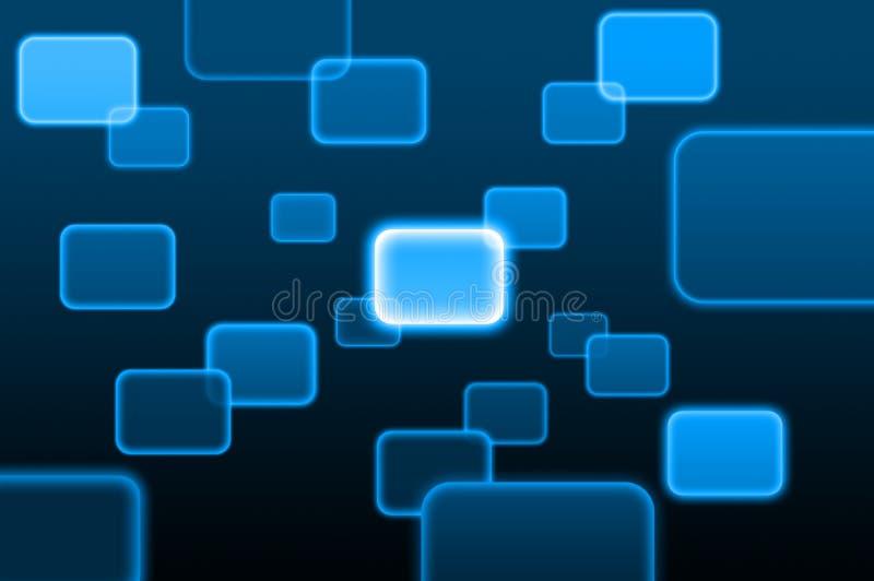 Bouton poussoir sur une surface adjacente d'écran tactile illustration de vecteur