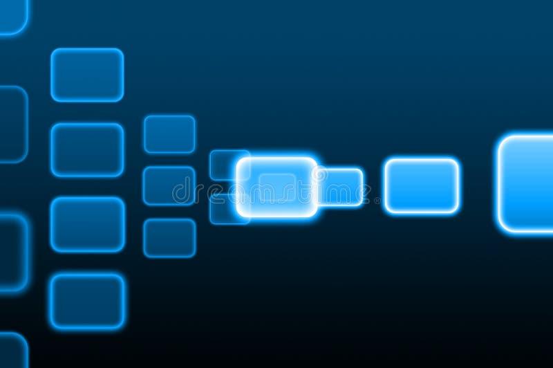 Bouton poussoir sur une surface adjacente d'écran tactile illustration stock