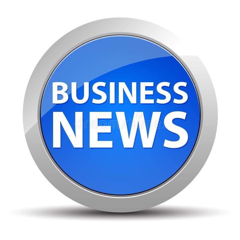 Bouton rond bleu de Business News illustration stock