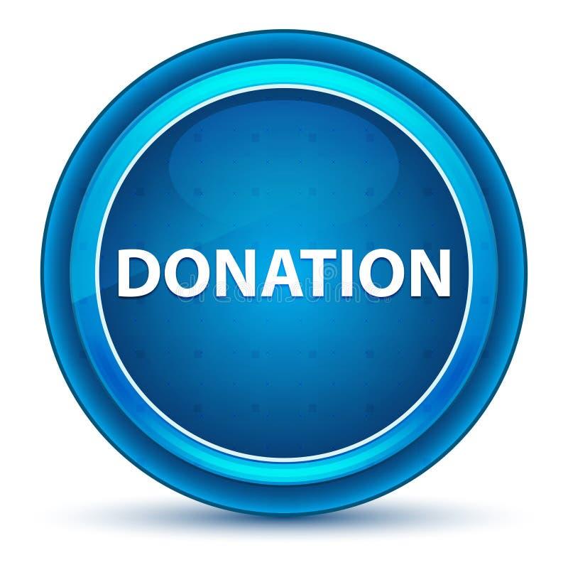 Bouton rond bleu de globe oculaire de donation illustration de vecteur
