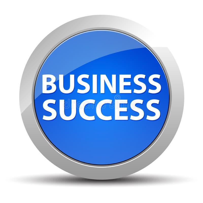 Bouton rond bleu de réussite commerciale illustration stock