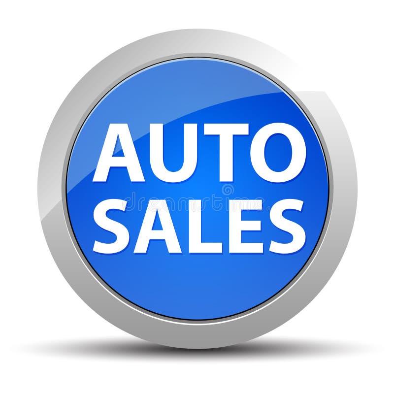 Bouton rond bleu de ventes automatiques illustration de vecteur