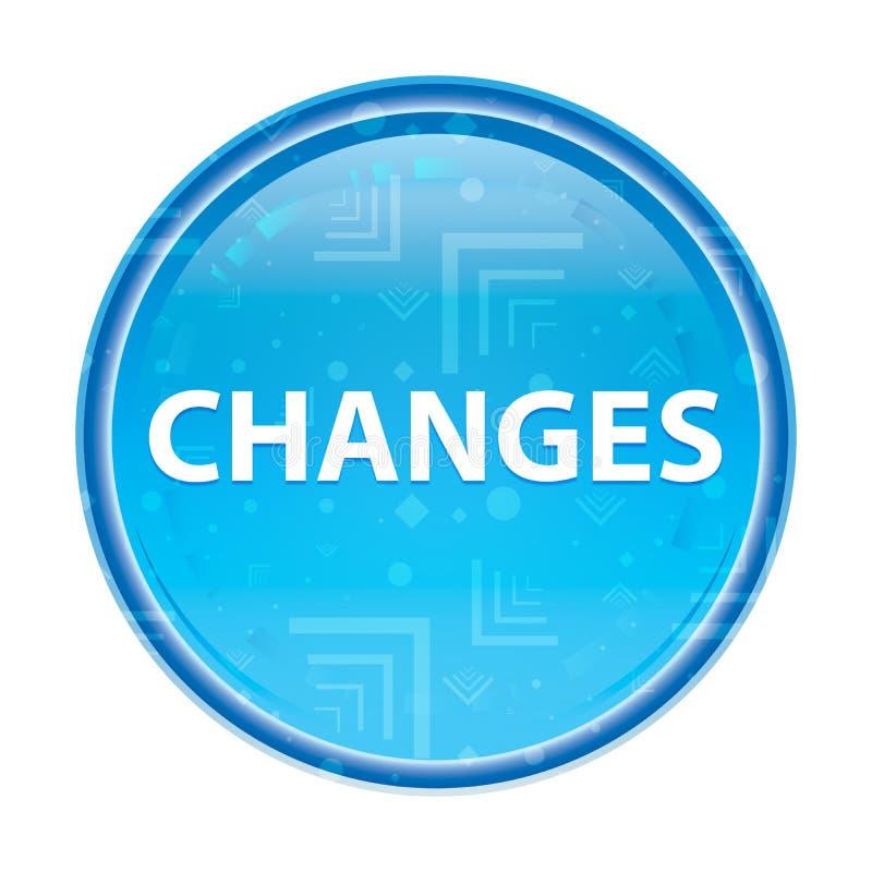 Bouton rond bleu floral de changements illustration libre de droits