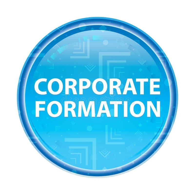 Bouton rond bleu floral de formation d'entreprise illustration de vecteur