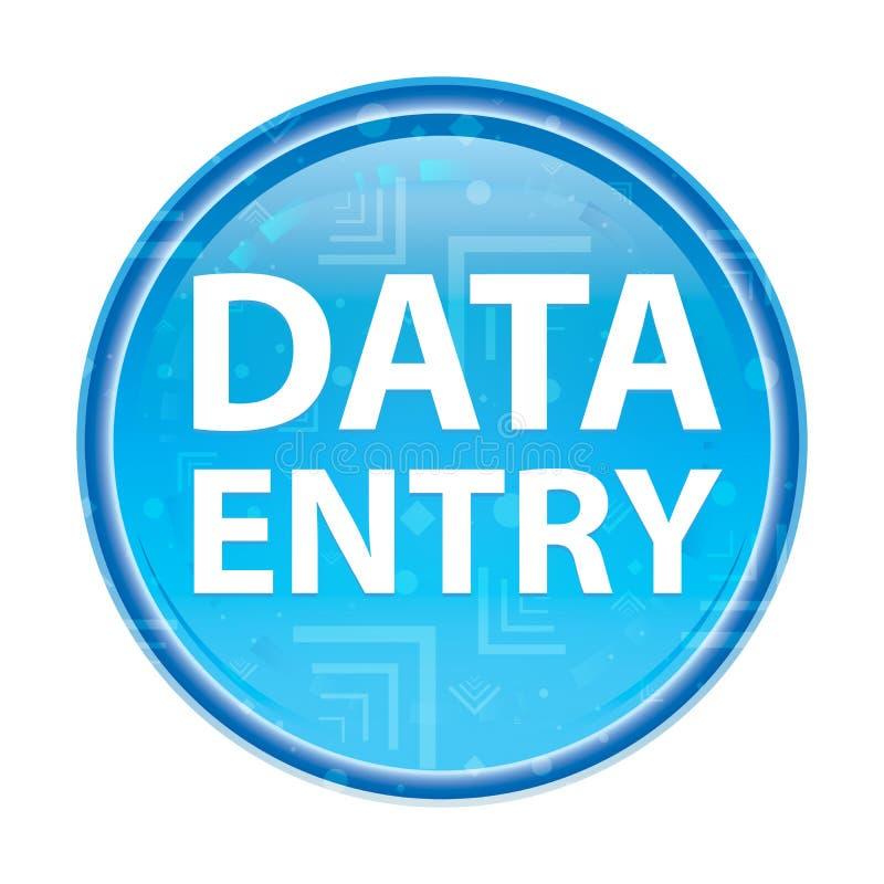 Bouton rond bleu floral de saisie de données illustration de vecteur