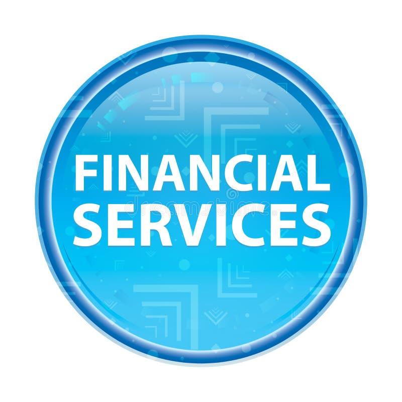 Bouton rond bleu floral de services financiers illustration libre de droits