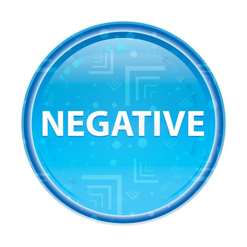 Bouton rond bleu floral négatif illustration de vecteur