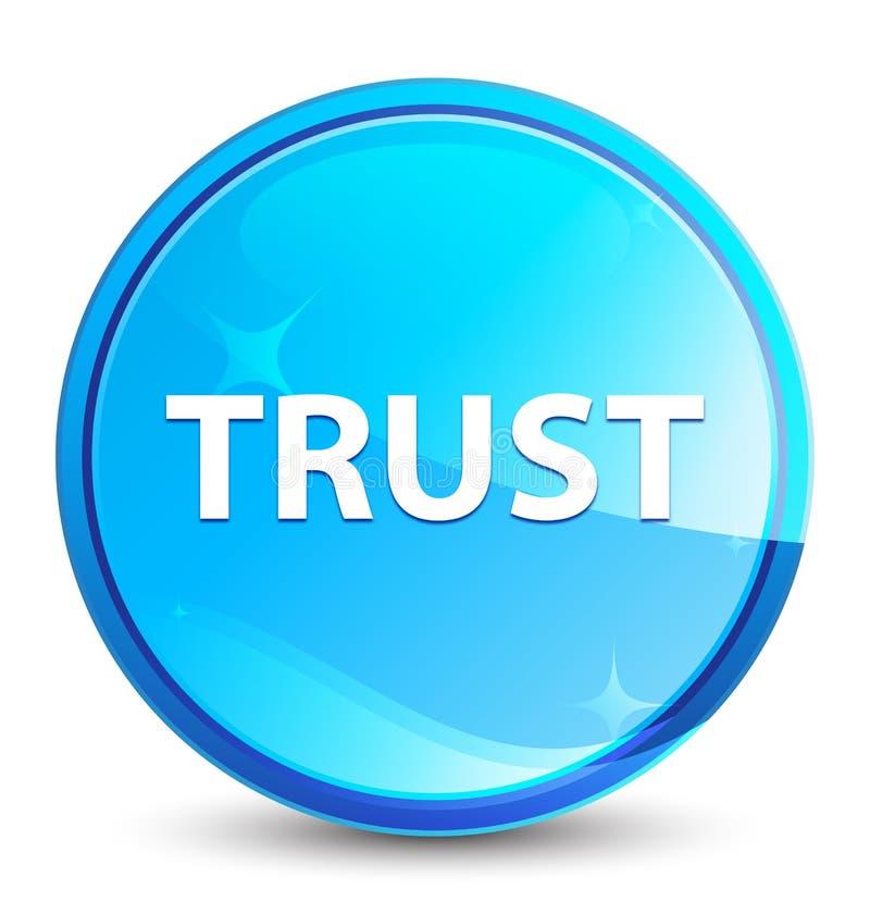 Bouton rond bleu naturel d'éclaboussure de confiance illustration de vecteur