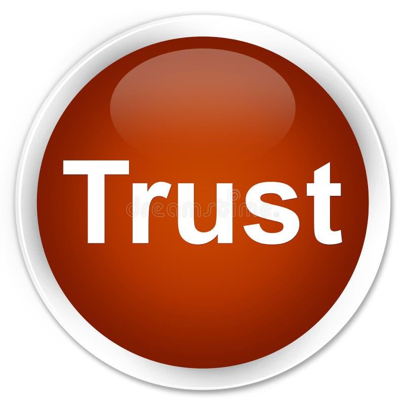Bouton rond brun de la meilleure qualité de confiance illustration de vecteur