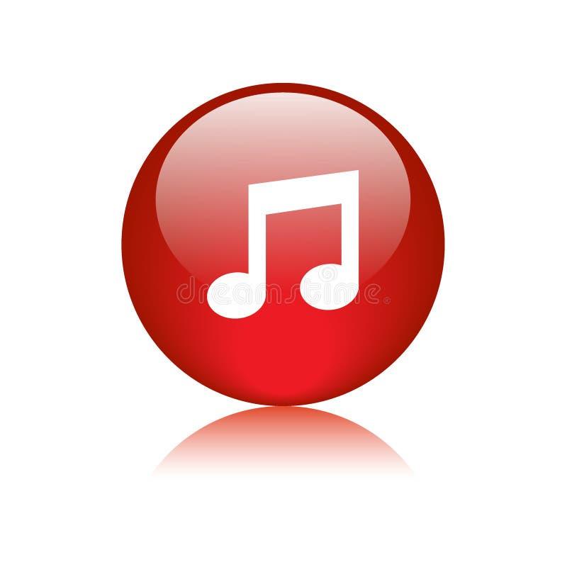 Bouton rond d'icône audio de musique illustration de vecteur