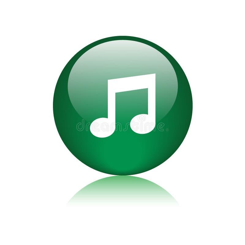Bouton rond d'icône audio de musique illustration libre de droits