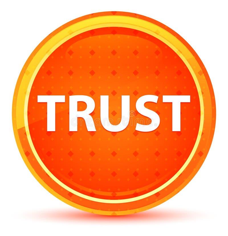 Bouton rond orange naturel de confiance illustration stock