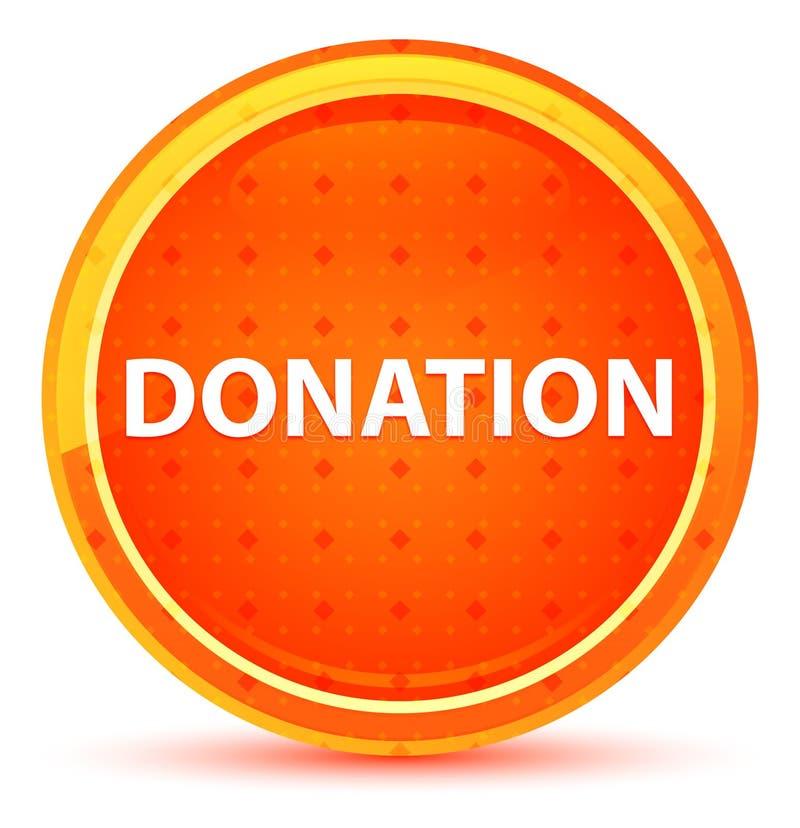 Bouton rond orange naturel de donation illustration de vecteur