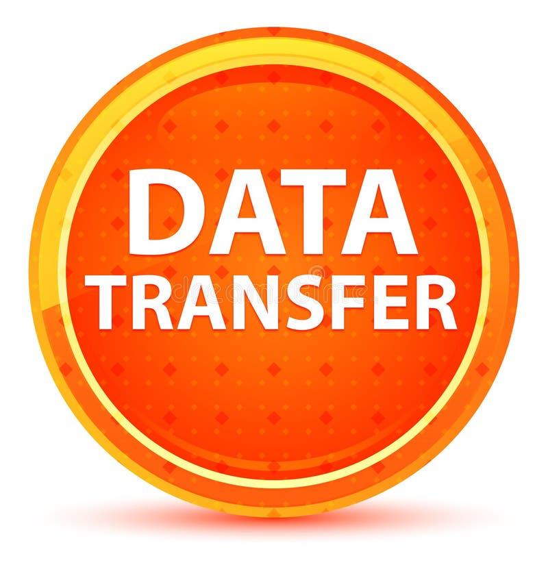 Bouton rond orange naturel de transfert des données illustration libre de droits