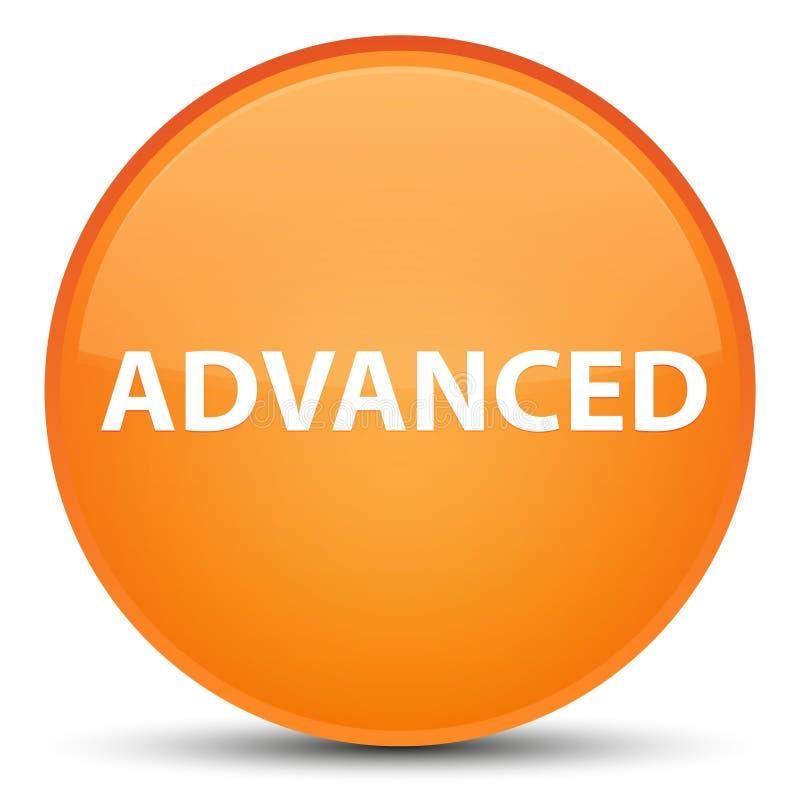 Bouton rond orange spécial avancé illustration de vecteur