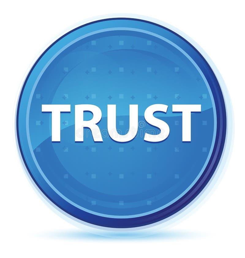 Bouton rond principal bleu de minuit de confiance illustration libre de droits