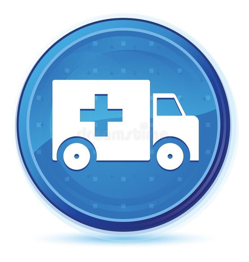 Bouton rond principal bleu de minuit d'icône d'ambulance illustration stock