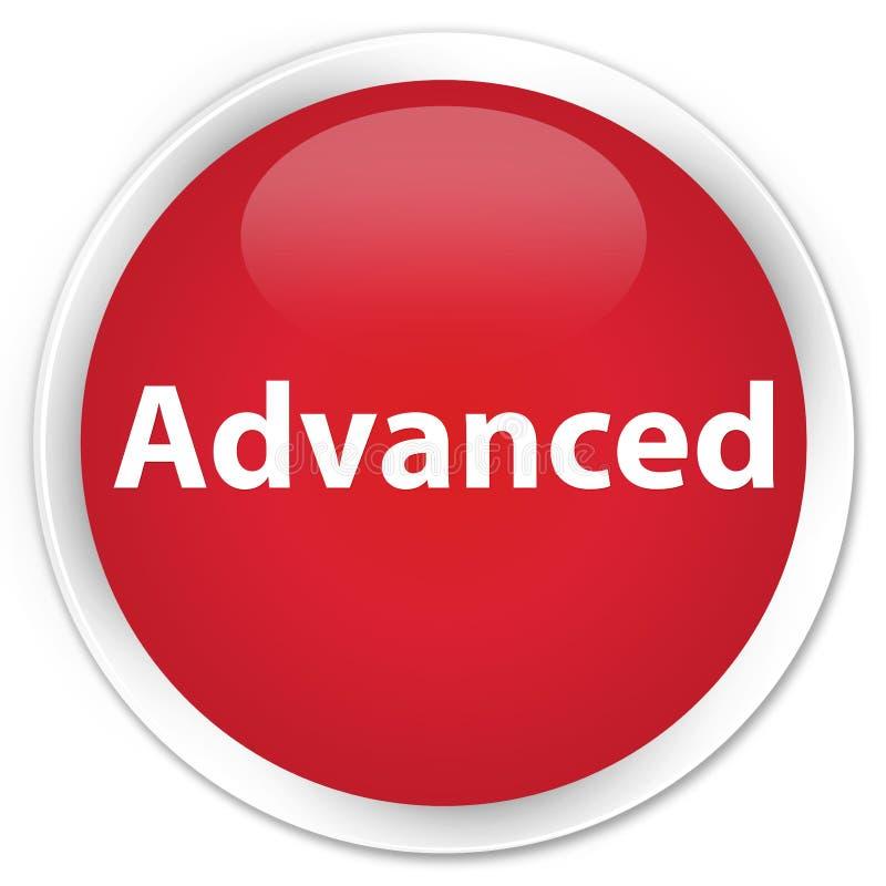 Bouton rond rouge de la meilleure qualité avancé illustration de vecteur