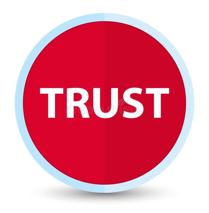 Bouton rond rouge principal plat de confiance illustration de vecteur
