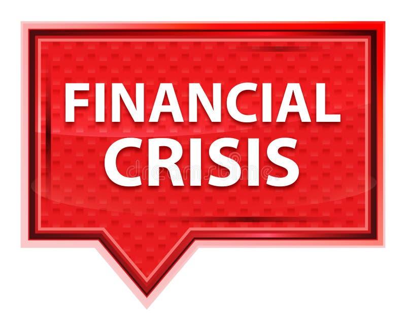 Bouton rose rose brumeux de bannière de crise financière illustration stock