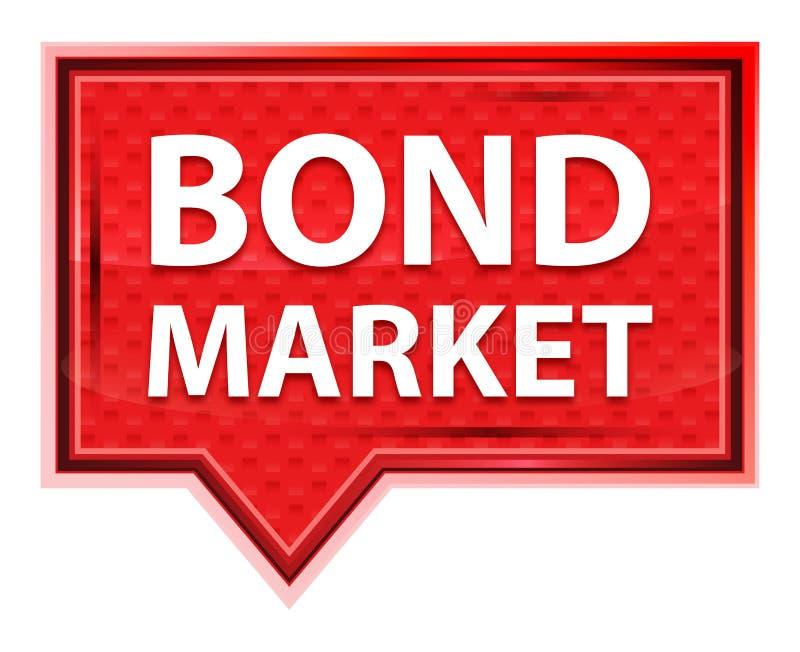 Bouton rose rose brumeux de bannière de marché des obligations des obligations illustration de vecteur