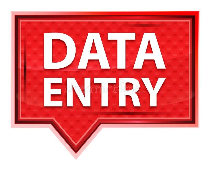 Bouton rose rose brumeux de bannière de saisie de données illustration libre de droits