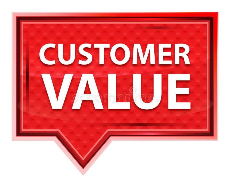 Bouton rose rose brumeux de bannière de valeur de client illustration de vecteur