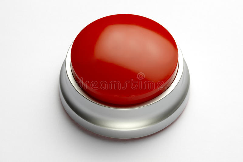 Bouton rouge photographie stock