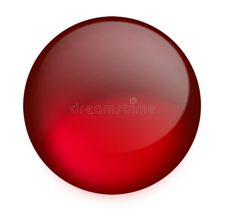 Bouton rouge illustration stock