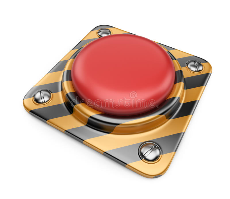Bouton rouge alerte vide. graphisme 3D   illustration de vecteur
