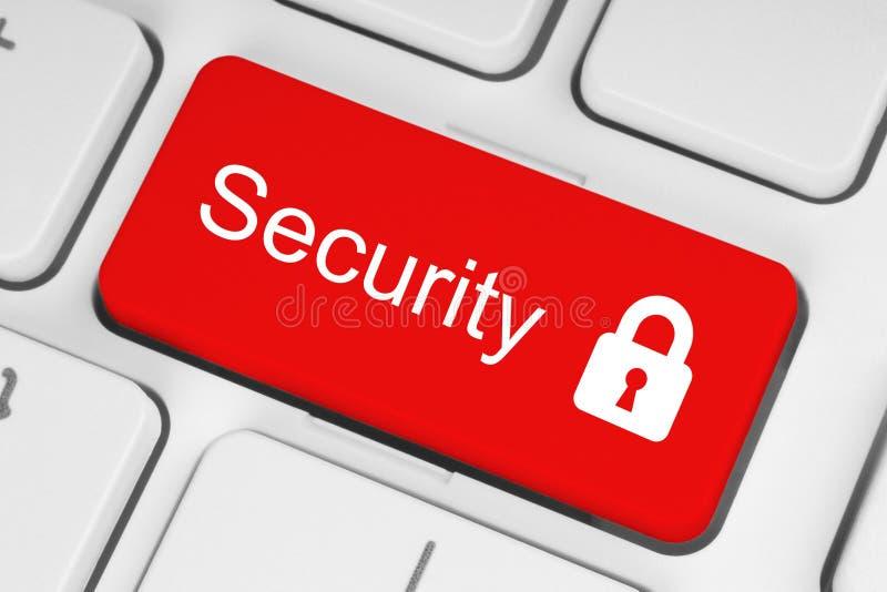 Bouton rouge de sécurité images libres de droits