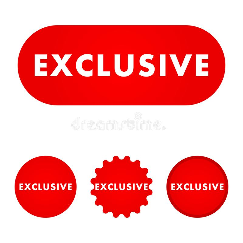 Bouton rouge exclusif illustration stock